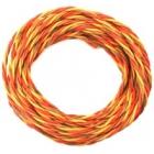 Kabel třížilový kroucený tlustý JR 0.5mm2 (PVC)