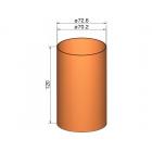 Klima Spojka 75mm trubek pr. 72.6mm x 120mm