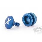 Tankovací ventil (X logo), modrý