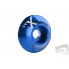 Kovová podložka s O-kroužkem (X logo) 3 mm, modrá, 10.ks