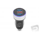 2x USB nabíječ do auta 12V (1 ks) (Silver)