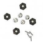 12mm HEX unašeče (4ks) + pojistná matice (4ks) - Antix MT-1/MT12 NEO