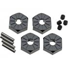 Axial hliníkový náboj kola 12mm černý (4)