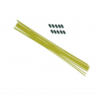Anténové trubičky RC AUTA 10 ks. - žluté