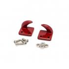 Odtahový kovový hák, pravý a levý, červený, 1 pár