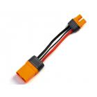 Spektrum konverzní kabel IC5 přístroj - IC3 baterie 10cm 10 AWG