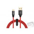 Datový kabel Micro USB červený (délka 2,5 m)
