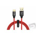 Datový kabel Type-C červený (délka 1 m)
