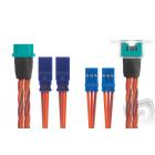 Prodlužovací kabel pro křídla MPX pro 2 serva, 2x500mm silikonkabel