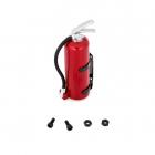 Červený plastový hasící přístroj včetně držáku, 1 ks.