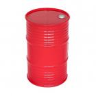 Plastový olejový barel, červený