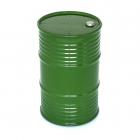 Plastový olejový barel, zelený
