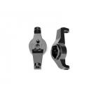 Traxxas závěs těhlice hliníkový šedý (pár): TRX-4