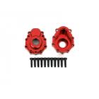 Traxxas vnější díl nápravy hliníkový červený (2): TRX-4