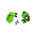 Traxxas vnitřní díl přední nápravy hliníkový zelený (2): TRX-4
