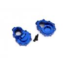 Traxxas vnitřní díl zadní nápravy hliníkový modrý (2): TRX-4