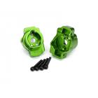 Traxxas lože zadní portálové nápravy hliníkové zelené (pár): TRX-4