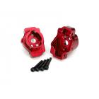 Traxxas lože zadní portálové nápravy hliníkové červené (pár): TRX-4