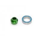 Traxxas hliníkové pouzdro ložiska zelené, ložisko 10x15x4mm