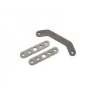 Traxxas Bulkhead tie bar, front, upper (1)/ lower (2) (steel)