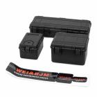 Sada tří plastových černých ochranných kufrů