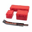 Sada tří plastových červených ochranných kufrů