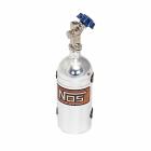 Stříbrná tlaková nádrž NOS s Nitro oxyd plynem, 23 gr.