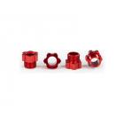 Traxxas matice hřídele hliníková červená (4)