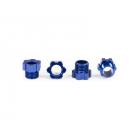 Traxxas matice hřídele hliníková modrá (4)