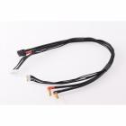 4S černý nabíjecí kabel G4/G5 - krátký 400mm - (XT60, 7-pin XH)