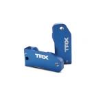Traxxas hliníkové závěsy těhlic modré 30° (L+P)