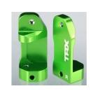 Traxxas hliníkové závěsy těhlic zelené 30° (L+P)