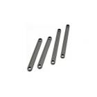 Traxxas - tyče zavěsů kol plast šedé (2+2)