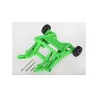 Traxxas sada opěrných koleček (wheelie) zelená