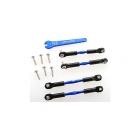 Traxxas hliníkové ojničky 39/49 mm modré (2+2)