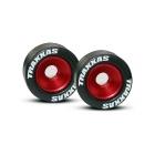 Traxxas hliníkové kolo opěrných koleček (Wheelie) červené (2)