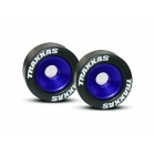 Traxxas hliníkové kolo opěrných koleček (Wheelie) modré (2)