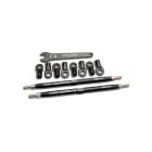 Revo/Summit - tyč závěsu 128mm hliník černý (2)