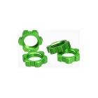 Traxxas matice kol 17mm hliníková zelený (4)