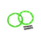Traxxas pojistný kroužek kola zelený