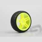 Silniční guma včetně plného žlutého disku, 2ks.