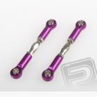 Spojovačky včetně kloubků, ALU, 2ks. (fialové)