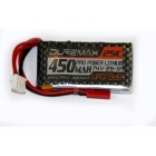 DUREMAX Power LiPol 7.4V 450mAh 25C JST