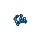 4 mm.alu samojistné matičky modré (10 ks.)