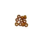 4 mm.alu samojistné matičky zlaté (10 ks.)