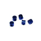 2 mm.alu stavěcí kroužky modré (5 ks.)
