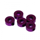4 mm.alu stavěcí kroužky fialové (5 ks.)