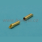 Konektor 4 mm zlacený DB4