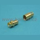 Konektor 8 mm zlacený