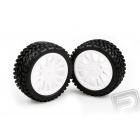 Nalepené gumy na bílých diskách Short Course 2ks